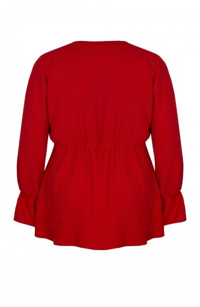 GIA RED elegancka bluzka plus size