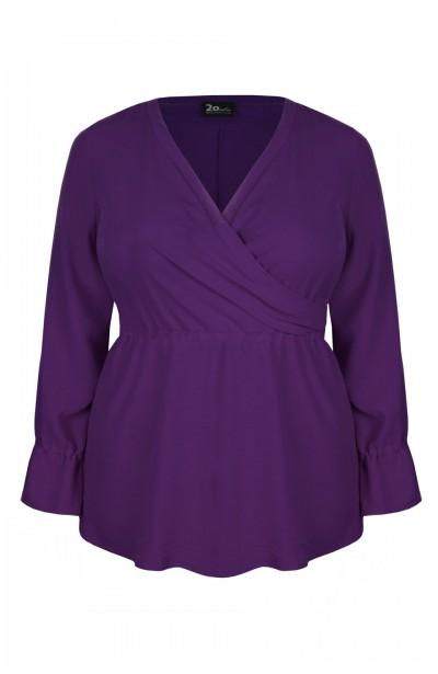 GIA VIOLET elegancka bluzka plus size