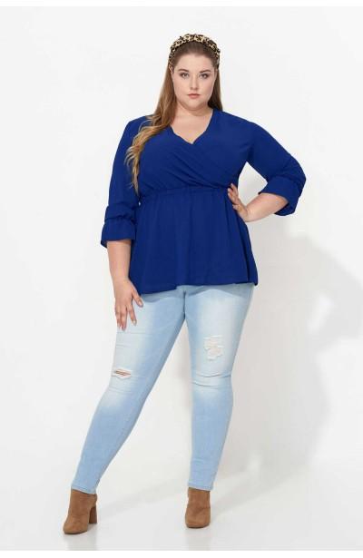 GIA BLUE elegancka bluzka...