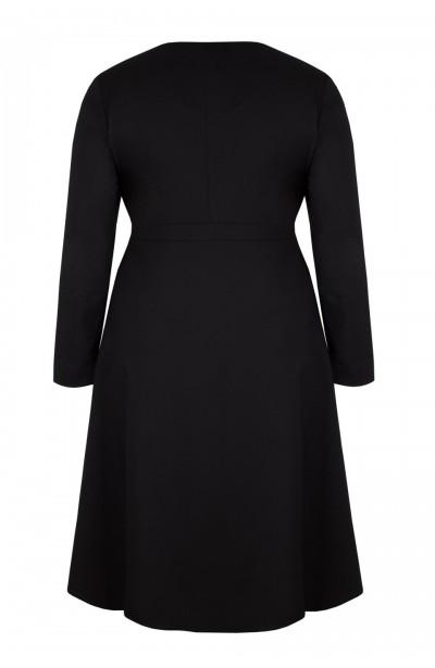 TRINITY BLACK płaszcz plus size