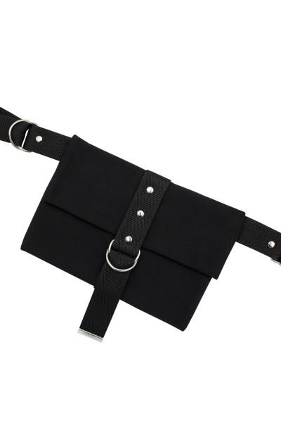 FOXY BLACK minimalistyczna saszetka