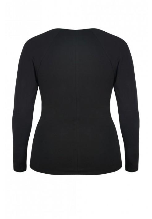 TORI BLACK bluzka plus size z zamkiem