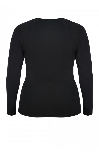 TONIA BLACK bluzka plus size z marszczeniem