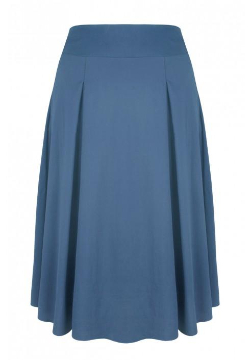 EDITH BLUE rozkloszowana spódnica plus size