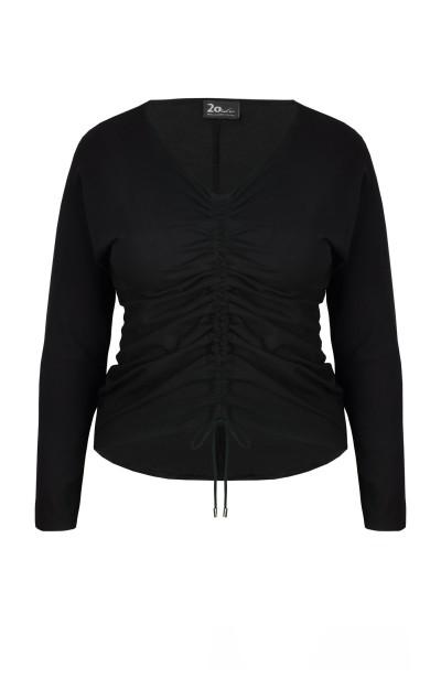 PATRICIA BLACK marszczona bluzka plus size