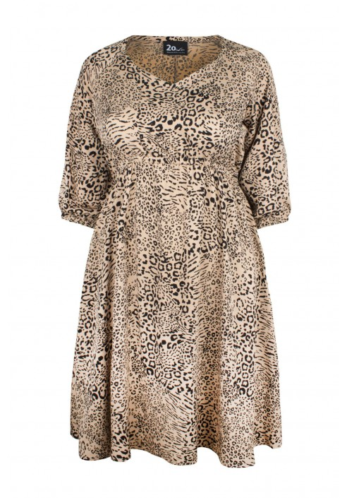 DORIS CHITA sukienka plus size w cętki