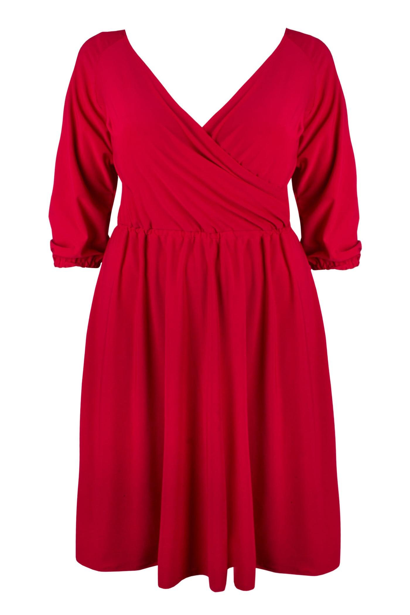 SHEILA RED elegancka sukienka plus size