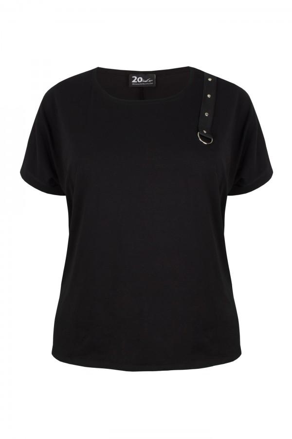 IGGY BLACK bluzka plus size na co dzień