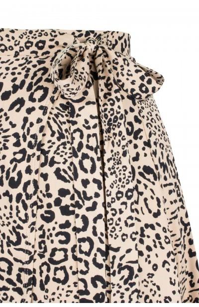 LARA CHITA kopertowa spódnica plus size w cętki