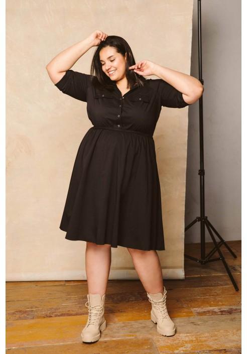 REBEL BLACK wiosenna sukienka plus size
