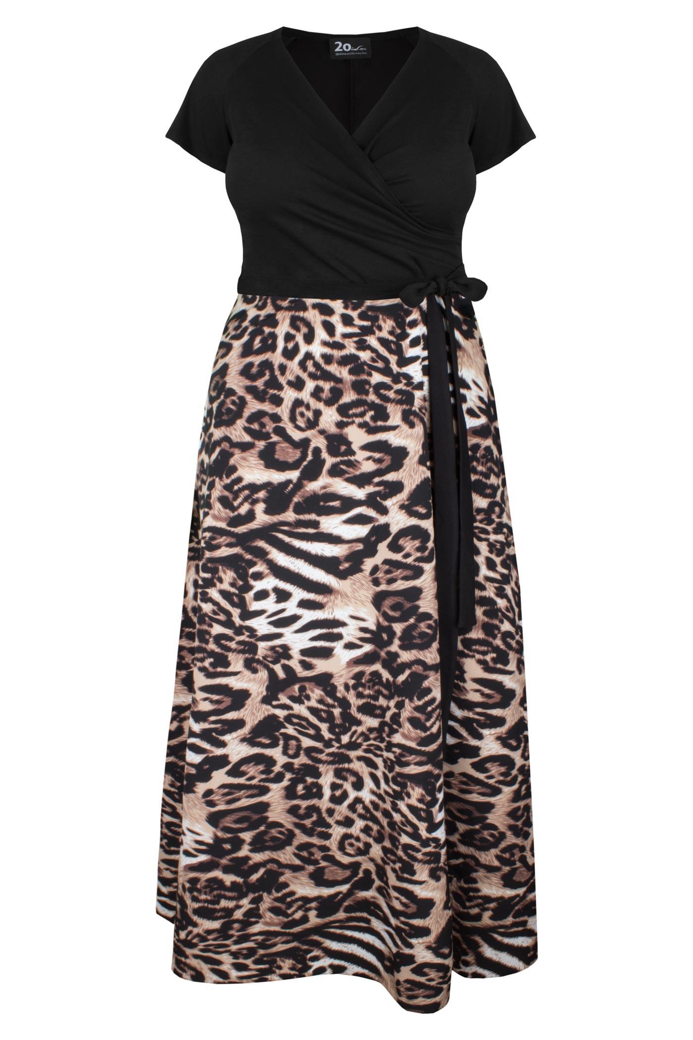 LIVIA CHITA maxi sukienka plus size w cętki