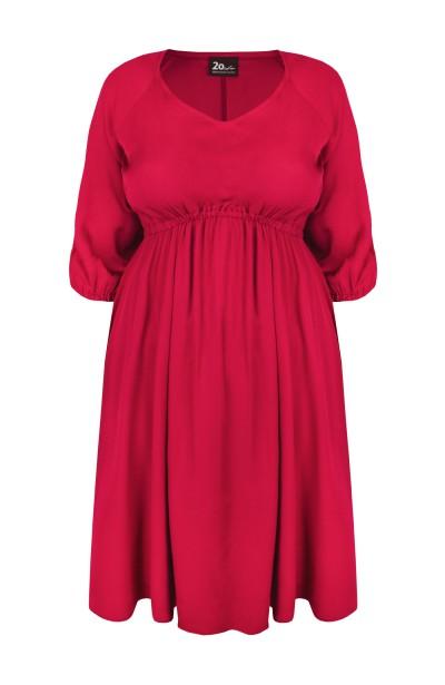 DORIS BERRY rozkloszowana sukienka plus size