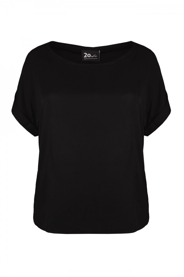 RAIN BLACK wygodny top plus size