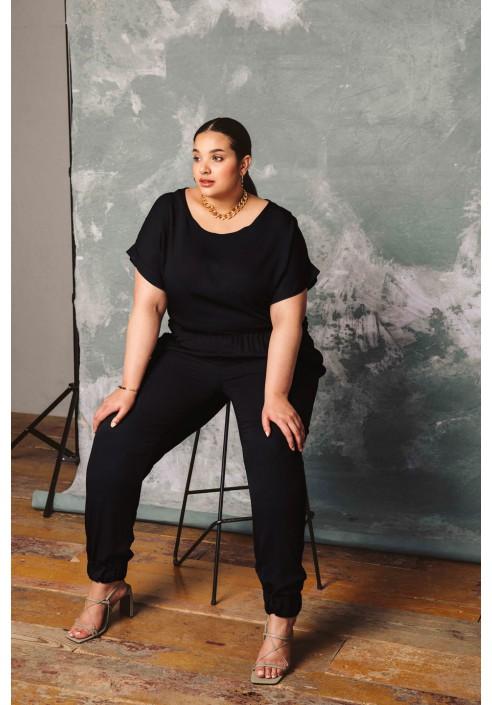 FERN BLACK wygodne spodnie plus size