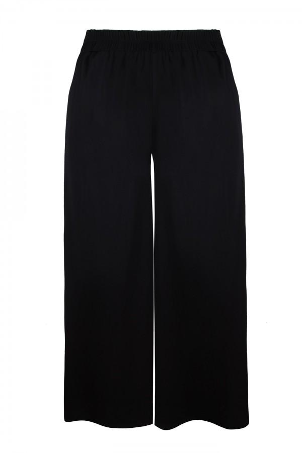 EVITA BLACK SPODNIE szerokie spodnie plus size