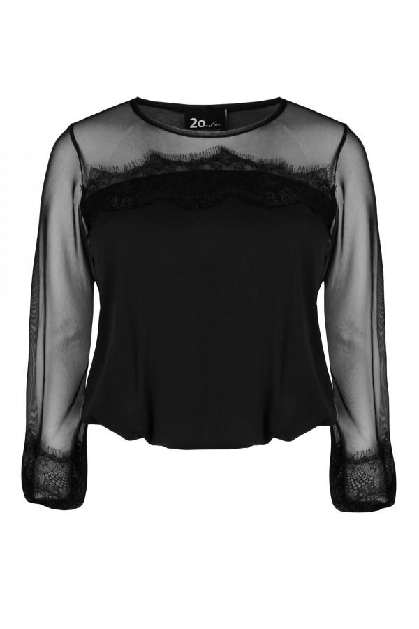 JUPITER BLACK czarna elegancka bluzka plus size