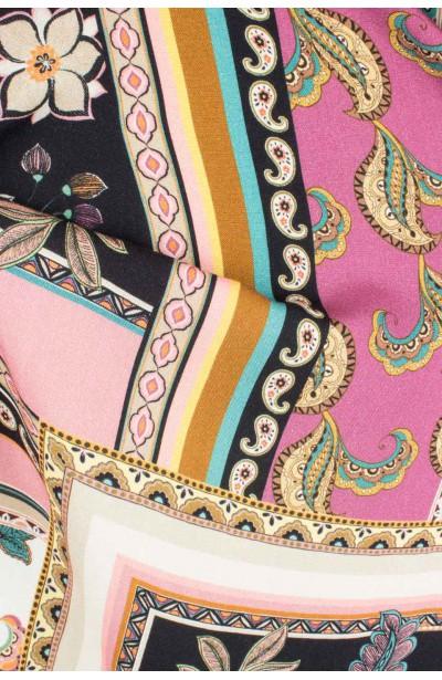LIVIA PATCHWORK maxi sukienka plus size na lato
