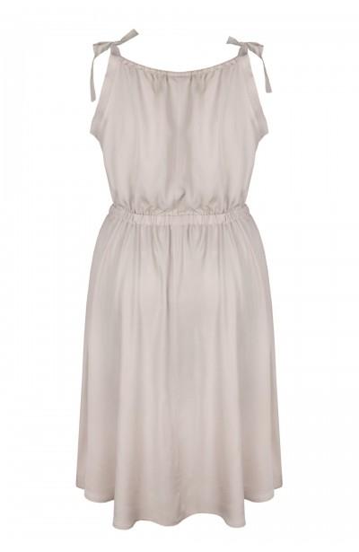 AGNI BEIGE zwiewna sukienka plus size na lato