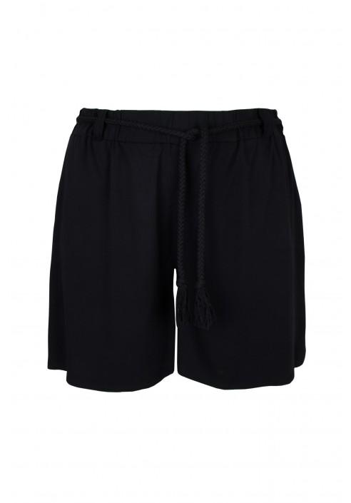 ZANZI BLACK luźne shorty plus size