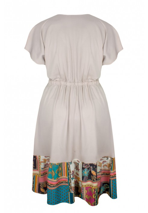 MALLORCA BEIGE letnia sukienka plus size