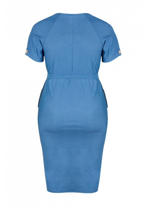 SAVANNAH BLUE ołówkowa sukienka plus size na lato