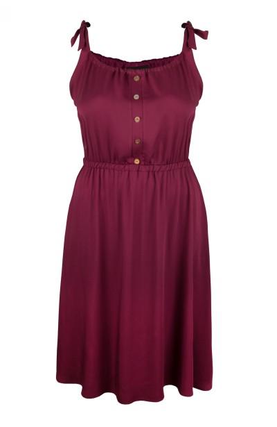 AGNI BURGUNDY zwiewna sukienka plus size na lato