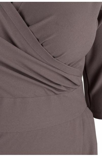 MONIQUE MOCCA ołówkowa sukienka plus size