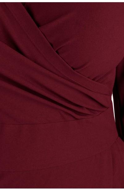 MONIQUE WINE ołówkowa sukienka plus size