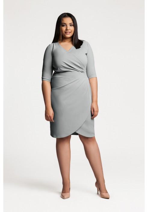 MONIQUE GRAY dopasowana sukienka plus size