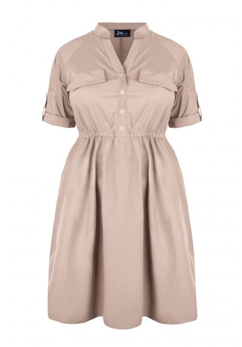 REBEL BEIGE letnia sukienka plus size