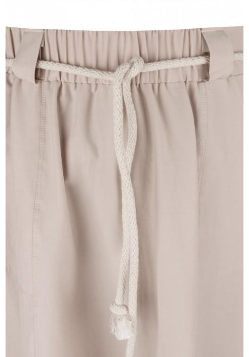 GHANA BEIGE rozkloszowana spódnica plus size na lato