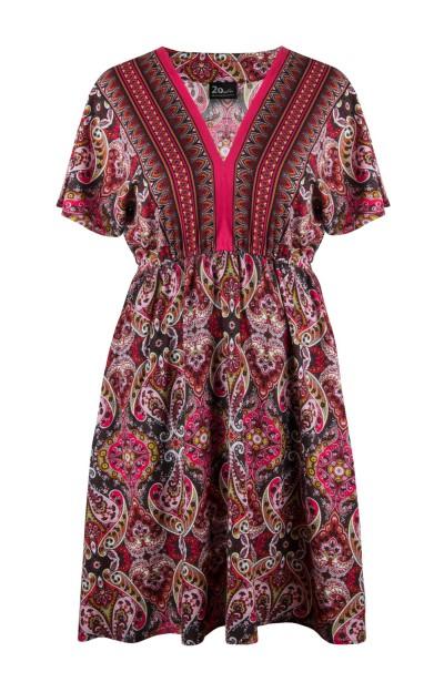 ANIYA ETNO rozkloszowana sukienka plus size
