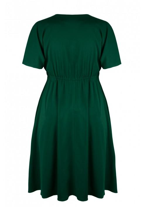 ANIYA GREEN rozkloszowana sukienka plus size