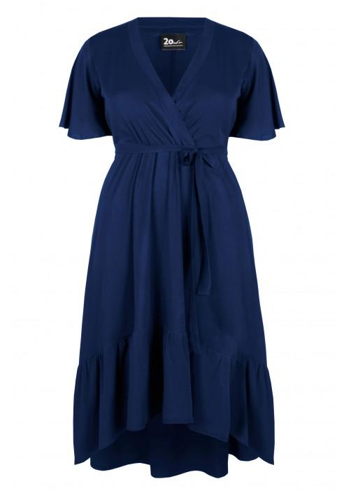 ZORA NAVY rozkloszowana sukienka plus size
