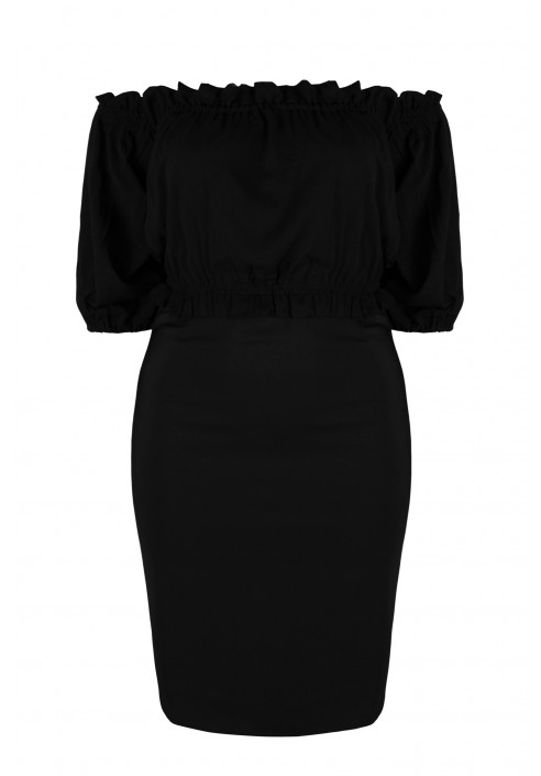 VEIRA BLACK seksowana ołówkowa sukienka plus size