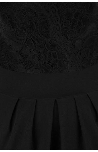 CARMEN BLACK romantyczna sukienka z koronką