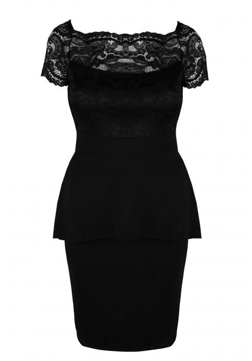 HELLEN BLACK elegancka koronkowa sukienka plus size