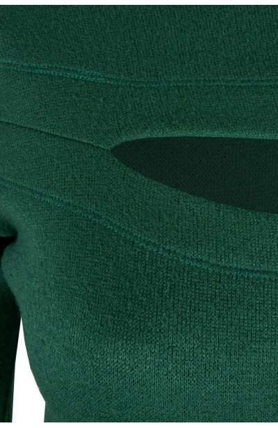 DARLA GREEN swetrowa sukienka plus size