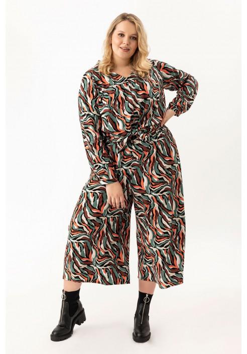 EFEBI FUNKY spodnie plus size typu culotte