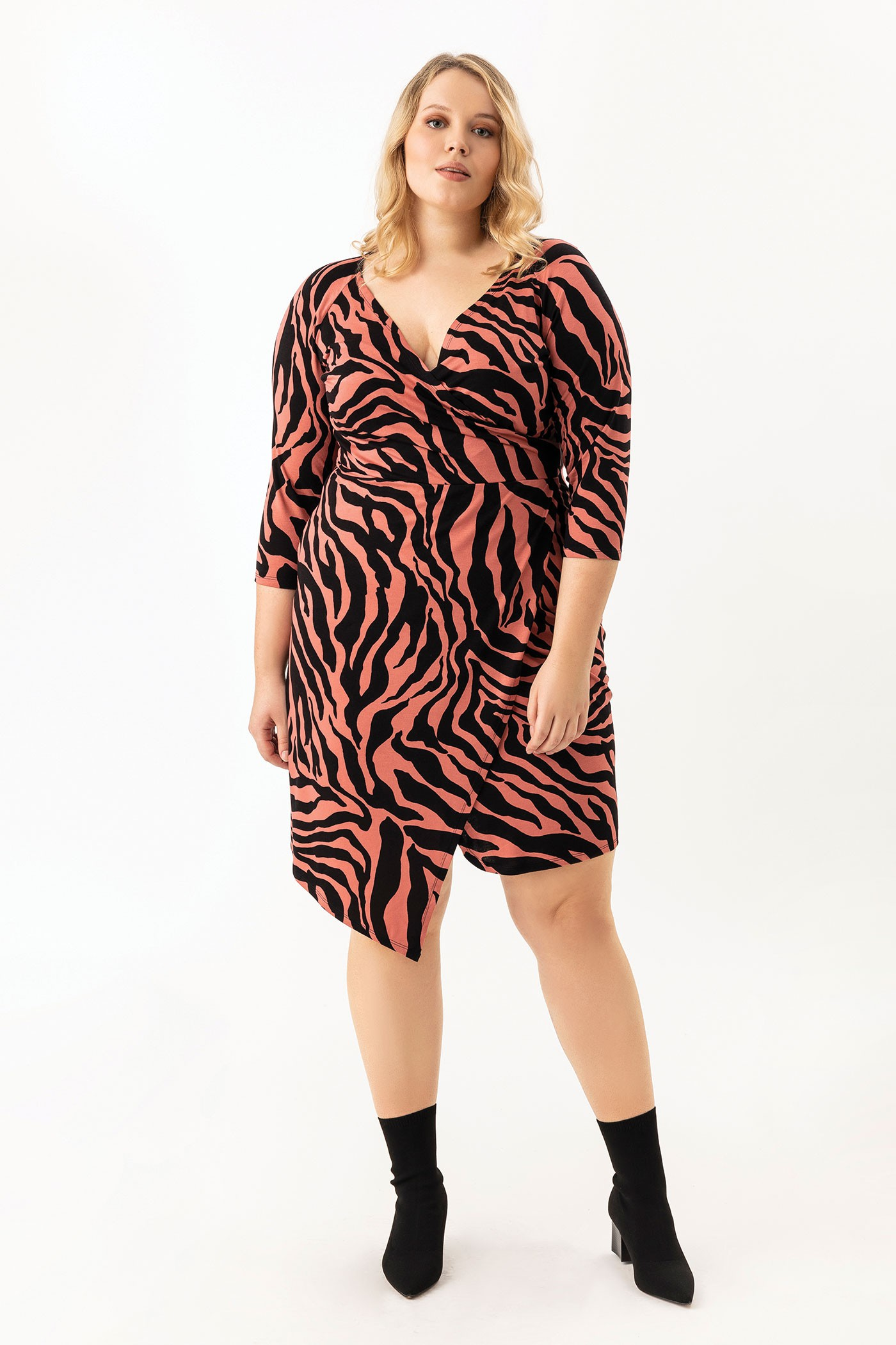 CHITA ZEBRA seksowna sukienka plus size