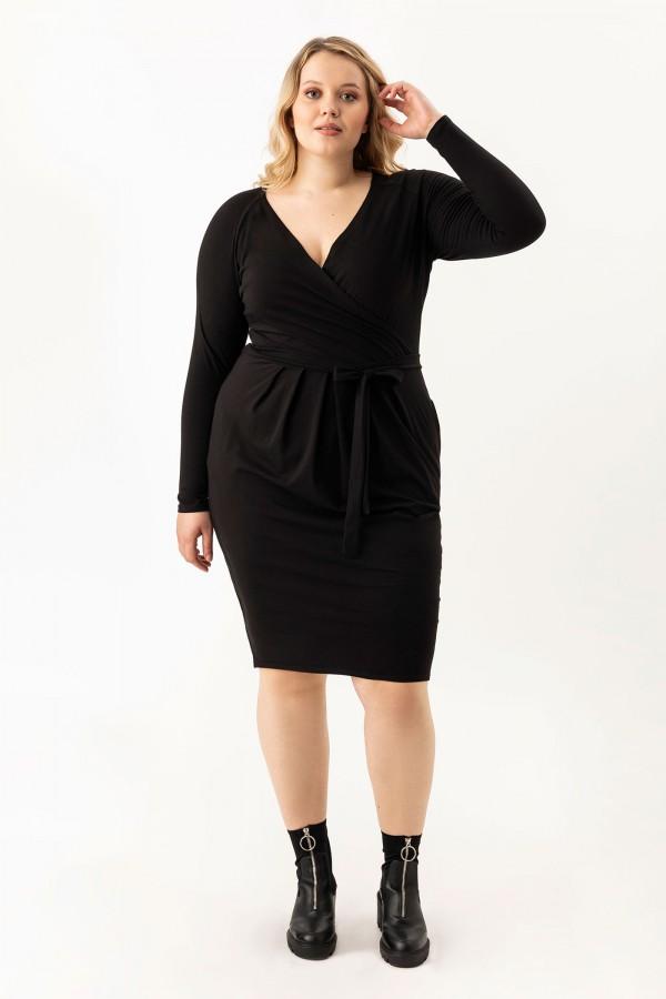 LOTTI BLACK wygodna sukienka plus size