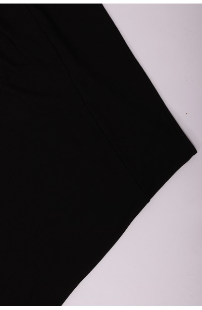 Ołówkowa sukienka z wysokim stanem - czarna