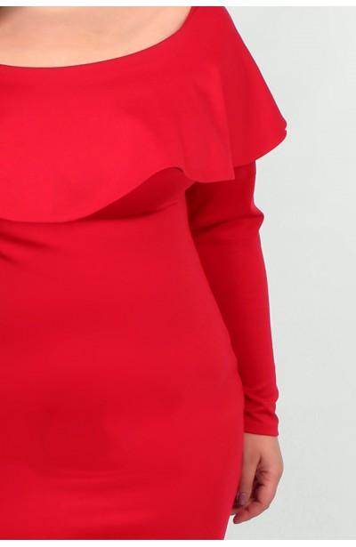 SELENA RED sukienka z falbaną