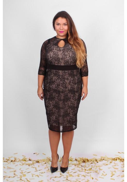 Bardzo dobra TIANA - Koronkowa sukienka w rozmiarach XXL - 20inlove ID39