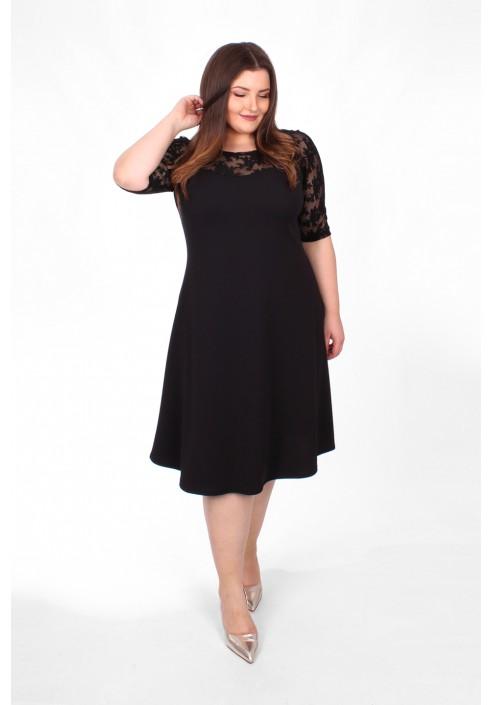 EMMA Trapezowa sukienka z koronką - 1013