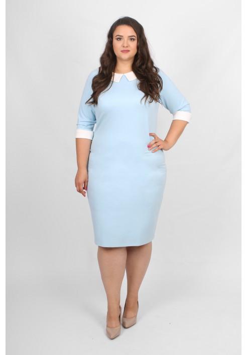 MACY BLUE Sukienka z kołnierzykiem - 1015