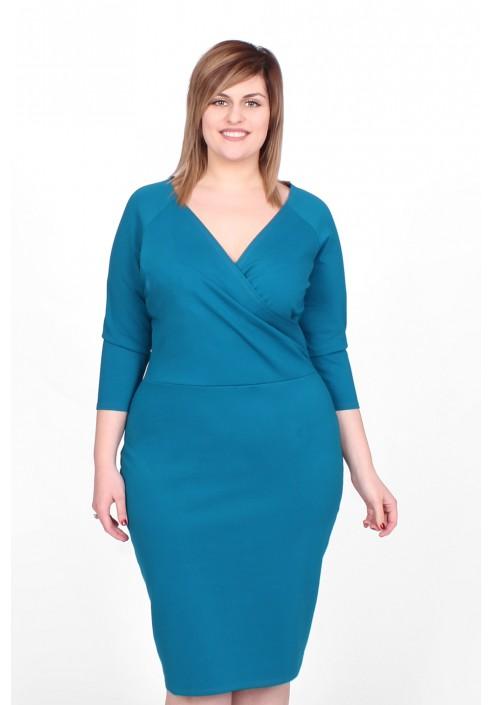 SIMPLE V - klasyczna turkusowa sukienka