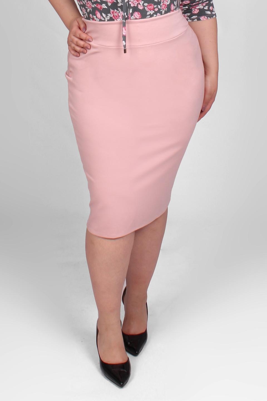 8378d67c06 Różowa spódnica z wysokim stanem w dużych rozmiarach - 20inlove