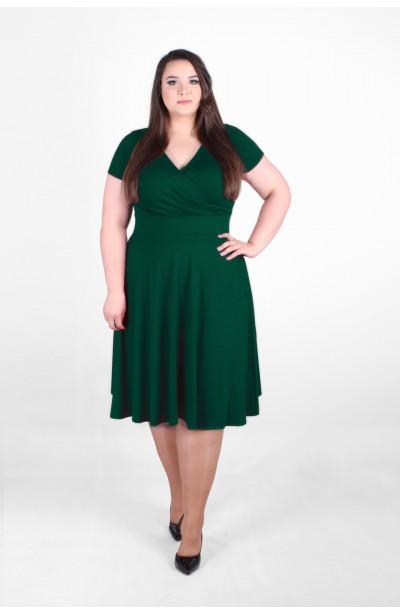 """LARA zielona sukienka o kroju """"A"""""""