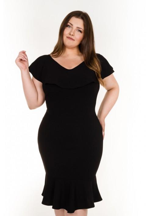 Sukienka COCO BLACK z falbaną